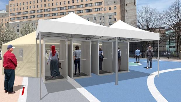 Arquitetos criam cabine para testar covid-19 sem contato físico