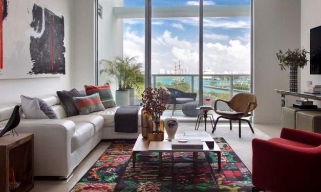 Arquiteta carioca Nayara Macedo assina o décor de um apartamento de 150m2, em Miami.