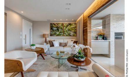 Clássico e rústico fazem mistura moderna na decoração de apartamento em Salvador