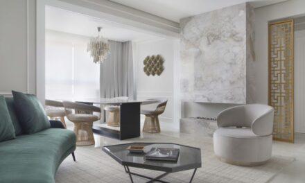 Curitiba: Tons neutros e mobiliário provençal marcam apartamento de 107 m²
