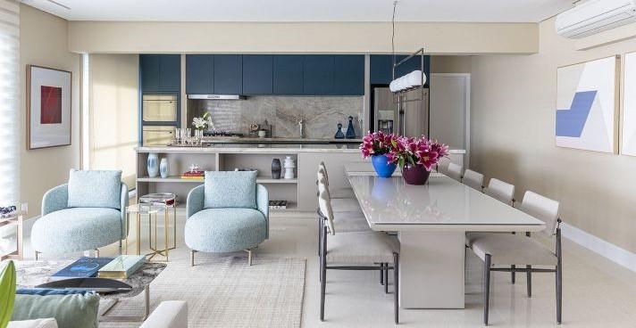 Marília Veiga assina projeto de um apartamento de 170m², em Osasco