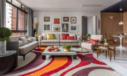 Muitas cores, obras de arte e fluidez marcam o projeto desse apartamento de 300 m², em São Paulo