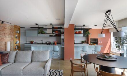 apartamento com tons terrosos, projetado pelo escritório Julliana Camargo